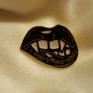 I think strange things Enamel Pin